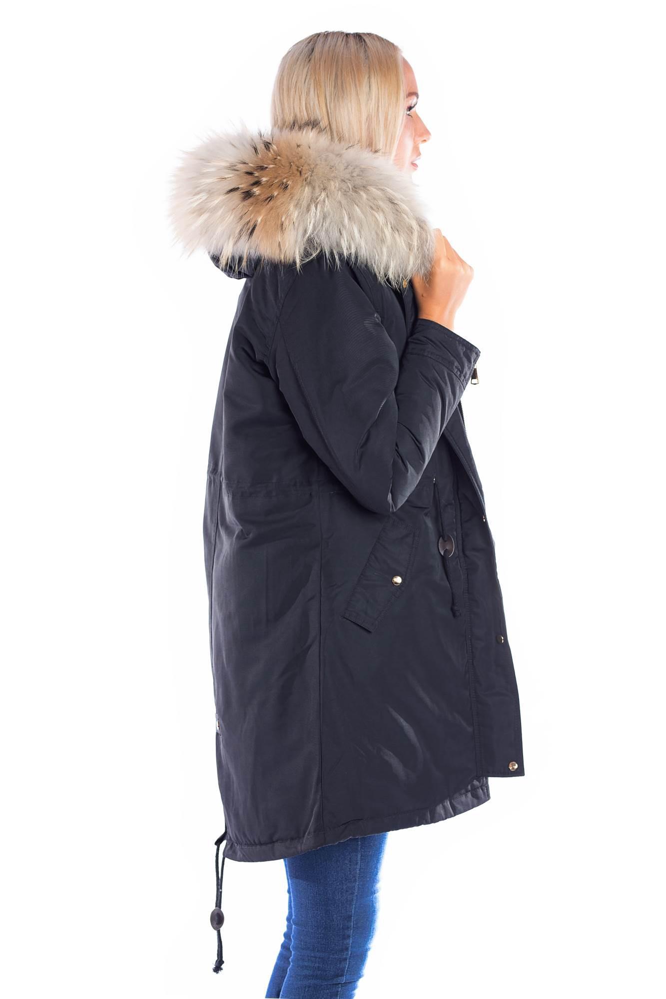 timeless design 9308c d8ef7 Parka mit Fellkapuze XXL Natur braun Fashion Blogger Style