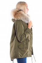 Parka Kaki Classic with Fashion Fellkapuze XXL luxury fur