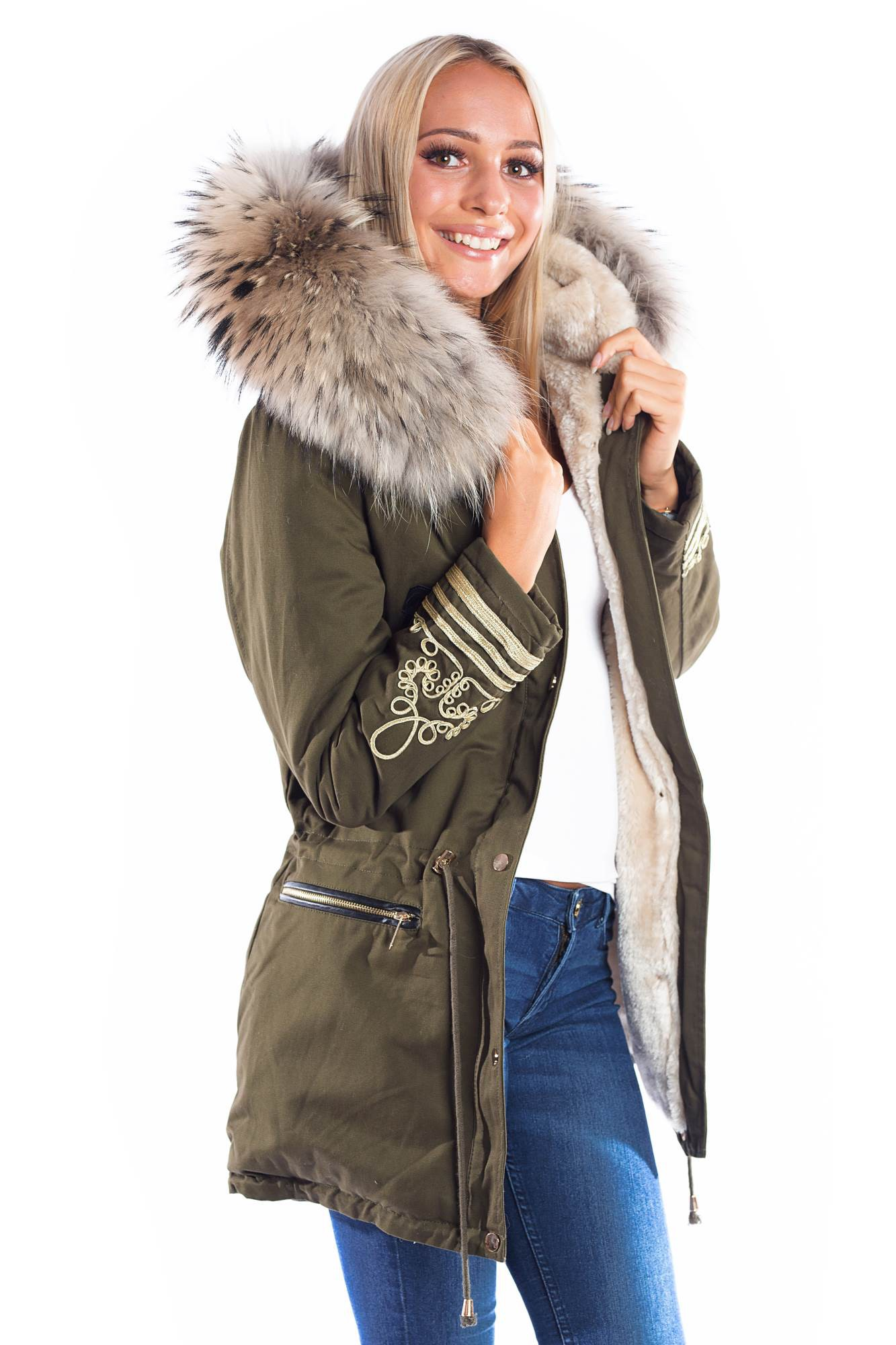 detailed look 7f55c ce5fd Parka mit Fell XXL Fashion Wiedererkennungswert