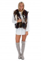 Vest in colorful fox fur Fashion Blogger Style fur fashion