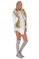 Raccoon Fur Vest Luxury Fur Fashion Blogger Style