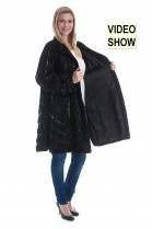 Persian Swinger Jacket Leather Fashion Fur Fashion Lambskin