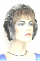 Rex rabbit fur earmuffs fur ear warmers - gray heather