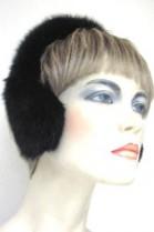Mink Fur Earmuffs Earmuffs - Black