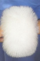 Shadow fox fox cuffs bracelet wrist warmer fur - White