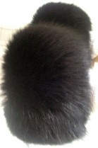 Blue fox fox cuffs bracelet wrist warmer fur -Schwarz