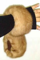 Mink cuffs bracelet wrist warmer fur fur - Pastel