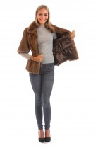 Nerue Mink Jacket Pastel Brown Blogger Fur Fashion Fur Mink