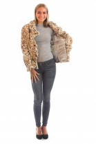 Mink Jacket Leopard Tiger Cheetah Fur Pattern Look Fur Fashion