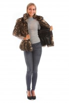 Fox Fur Jacket Leopard Tiger Cheetah Pattern Luxury Fur Fashion