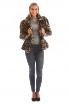 Fur Jacket Fox Leopard Tiger Cheetah Pattern Luxury Fur Fashion