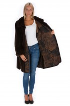 Velvet mink jacket olive brown luxury shared mink swinger fur