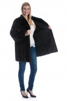 Fur coat mink brown