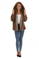 Hooded Jacket Mink Fur Mink Jacket Fur Fashion Blogger Style