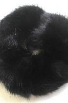 Nerz Pelz Fell Haargummi Pelzband Haarband - Schwarz