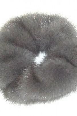 Nerz Pelz Fell Haargummi Pelzband Haarband - Grau