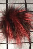Finraccoon Bommel - Bicolor rot - Mode 2018 - Echt Pelz Neu