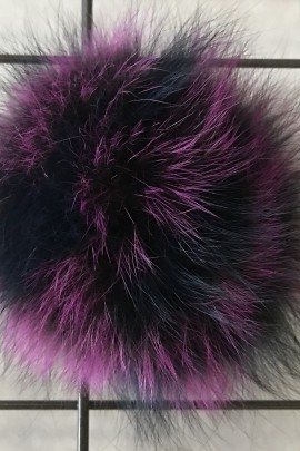 Blaufuchs Fuchs Bommel - Bicolor- Mode 2018 - Echt Pelz Neu