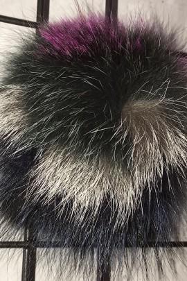 Finraccoon Silver Fox Fox Fur Bommel Bommel - Multicolor