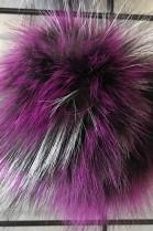Finraccoon Bommel - Multicolor - Fashion 2018 - Real Fur New