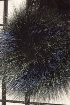 Finraccoon Bommel - Multicolor - Fashion 2018 - Real Fur New