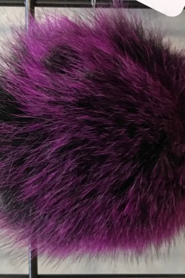 Blue fox fur bobble bobble fur fur coat - Purple Night