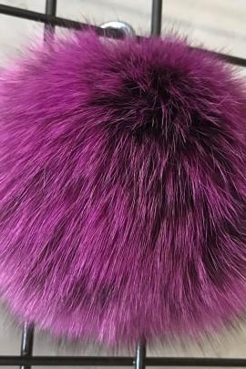 Blue fox fur bobble bobble fur fur coat - Purple Night