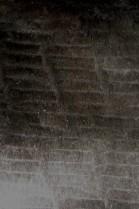 Pelz Fell Rest Tafel Stücke Kanin schwarz