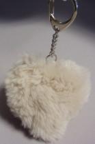 Real Fur Heart Keychain Kanin
