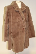 Fur coat Shorn mink beige