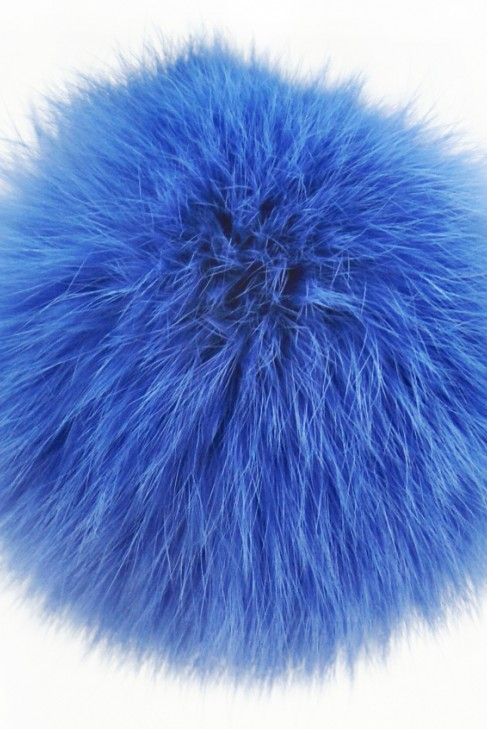Kanin Pelzbommel Fellbommel blau