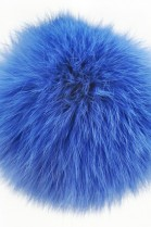 Rabbit fur pompom fur pompom blue