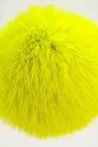 Rabbit fur coat bobble bobble yellow