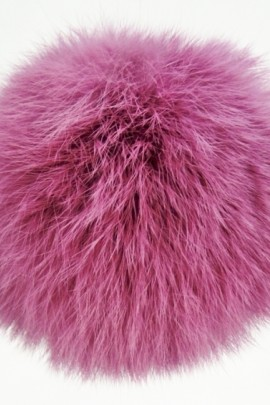 Rabbit fur fur bobble bobble violet
