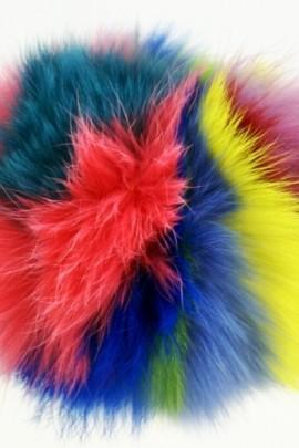 Kanin Pelzbommel Fellbommel multicolor