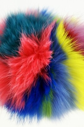 Rabbit fur bobble bobble fur multicolor