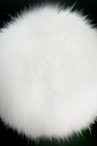Rabbit fur pompom fur pompom white