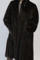 Fur coat coat mink brown left out