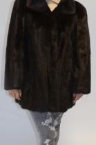 Pelz- Fell Jacke  Nerz ausgelassen  braun