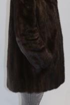 Pelz- Fell  Nerz  Jacke braun  mit Reverkragen