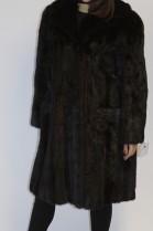 Pelz- Fell Jacke  Nerz  dunkel braun mit Außentaschen