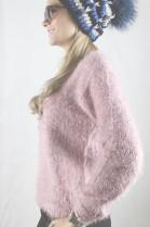 NEU Woll Mütze Echt Pelz - Blaufuchs Bommel