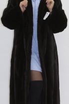 Fur coat mink hilarious dark brown