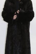 Fur coat mink black hilarious