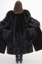 Pelz Fell Mantel  Nerz  Stücke schwarz