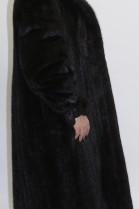 Pelz - Fell Mantel Nerz schwarz