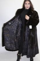 Fur coat mink dark brown omitted