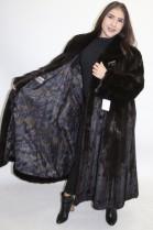 Pelz Fell   Mantel Nerz dunkel braun  ausgelassen