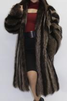 Fur coat short coat raccoon nature