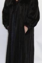 Mink fur fur coat left out